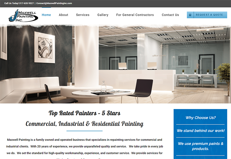 Maxwell Painting Inc Home Page