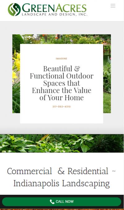 Website Spotlight Green Acres Landscape Design Circle City