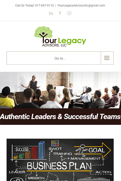 Your Legacy Advisors Mobile View